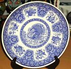 Spode Plate Blue Festival Turkey Toile Dinner Accent Porcelain Transferware New