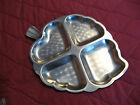 VINTAGE STAINLESS STEEL SERVING DISH  LEAF SHAPED 4 COMPARTMENTS