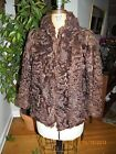 vintage brown curly lamb fur jacket coat
