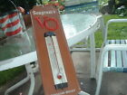 VINTAGE LARGE SEAGRAM'S VO CANADIAN WHISKY LEATHER WALL THERMOMETER SIGN