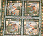 1 Yd. Wild Life Pillow Panel Quilt Fabric Mallard Ducks Hunting In the Marsh