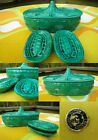 VTG 1960s Green Ceramic Greek Key Suttons Creation Japan Cigarette Box Ashtrays