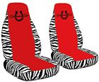 2 Front Cowgirls Lucky Horseshoe Velvet Seat Covers With 17 Color Options
