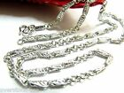 17.7INCH Platinum 950 Necklace Rolo Wheat Link Chain /Stamp: Pt950 / 12.10g