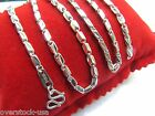 18INCH Platinum 950 Necklace Rhombic Bead Link Chain /Stamp: Pt950 / 16.50g