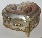 Vtg Japan Sankyo Choken Heart Music Jewelry Box Chariots of Fire Flower Butterfl