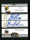 BARRY SANDERS LEAF ARMY 2012 AUTO STANFORD CARDINAL SIGNED DYNAMIC DUOS 8 10