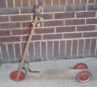 Antique Wood Scooter 3 Hard Rubber Wheels Rare Turn Knob 1940's ?