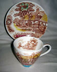 #18 Vtg Chadwick English Cottage Japan Print Delicate Cup & Saucer
