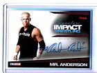 TNA Mr. Anderson 2011 Signature Impact RED Autograph Card SN 2 of 5