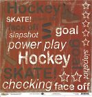 Scrappin Sports Hockey Star Red Scrapbooking Paper 1122 Double Sided