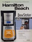 Hamilton Beach BrewStation 48465 12 Cups Coffee Maker - Black  /  Factory SEALED
