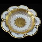 D W PORZELLAN KARLSBADER WERTARBEIT Vintage GOLD DECORATED BOWL Fleur-De-Lis