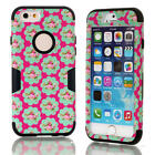 Blossom Hard & Soft Rubber Armor Impact Defender Case for iPhone 6 Plus Black