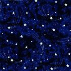 STAR MAGIC~MICHAEL MILLER~BY 1/2 YD~GLOW IN DARK STARS IN THE NIGHT SKY~DG0605
