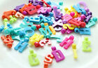 50pc colorful letters Charms For Loom Rubber Bands Bracelets Refill Kit DIY W139
