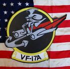 VIETNAM VF-17A NAVY MARINE FIGHTER SQUADRON LEATHER HAND PAINTED PATCH, USA MADE