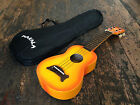 Makala Orange Burst Soprano Ukulele Uke With Optional Snark Tuner