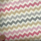 Chevron fabric pink gray BT yard