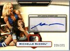 WWE Michelle McCool Topps Platinum 2010 SILVER Autograph Card SN 229 of 271