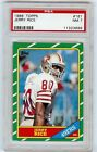 Jerry Rice 49ers HOF 1986 Topps #161 Rookie Card rC PSA 7 Near Mint QUANTITY!