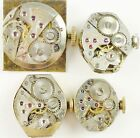 Lot of 4 Benrus Lady's Wristwatch Movements, AY1, C23, AB12, AE13 All Running