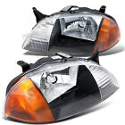 For 1998 2001 Geo Metro Front Driver Passenger Headlights w Clear Lens