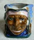 Vintage Occupied Japan Ceramic Toby Jug Mug Cup Creamer Indian Chief Character