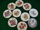 Furstenberg German hallmark china small flower plates porcelain coasters 10