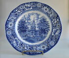 Liberty Blue Independence Hall White Plate Staffordshire Vintage Ironstone