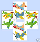 Airplane Aviator Wall Decals Baby Boy Transportation Nursery Stickers Art Decor