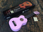 Brunswick Quality Matt Pink Soprano Ukulele Uke Fitted With Aquila Strings