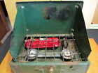 Coleman 425E Green Two Burner Used Camping Stove Vintage