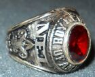 BSA National Executive Institute NEI Sterling Silver Ring Red Stone Size 10.5