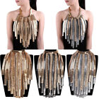 Hot Fashion Metal Snake Chain Charm Crystal Chunky Choker Statement Bib Necklace