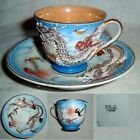 60yr OCCUPIED JAPAN moriage blue w/gold gilt DRAGON WARE CUP & SAUCER no damage