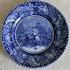 BOSTON MASSACRE OF 1770 FLOW BLUE STAFFORDSHIRE PLATE BY ROWLAND