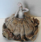 Vintage Flapper with Cloche Porcelain Half Doll Pin Cushion