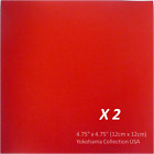 Set of 2 Origami Folding Paper 475 12cm Square 50 Sheet Red Color Made Japan