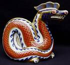 ROYAL CROWN DERBY IMARI CHINESE DRAGON HAND PAINTED DESK PAPERWEIGHT SCULPTURE