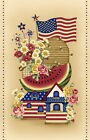PANEL~SWEET LAND OF LIBERTY~FLAG~HENRY GLASS~COLOR PRINCIPLE~7867 44~WATERMELON