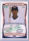 FRANCISCO LINDOR 2010 TOPPS USA RARE GREEN EMERALD INK AUTO # 25 ROOKIE RC
