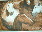 1 Yd  Western Horses Quilt Fabric Allover Horse Portraits Large Print Country