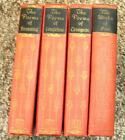 Set of Four Poetry books Browning Poe Longfellow and Tennyson 1927 1932