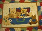 Everyday Suitcase Bear Baby Quilt 3 yd Panel Fabric nursery cotton wallhanging