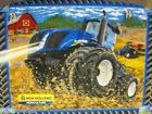 New Holland Tractor Quilt Panel Fabric 35x44 barn field harvest blue country