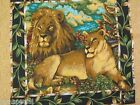 Out of Africa Pillow Panel Fabric wild zoo animals Lion Lioness 1 panel 17x17