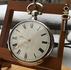 Sharp 1828 English verge fusee silver pair case pocket watch by Berry Of London