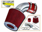 91 97 Geo Metro 10 L3 13 L4 SHORT RAM AIR INTAKE KIT + RED FILTER