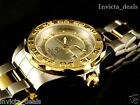 NEW Invicta Mens Grand Pro Diver 44mm Silver Dial Two Tone 18K GP Watch